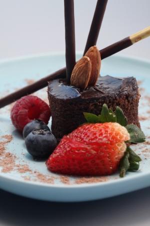 indulgence: Chocolate indulgence dessert Stock Photo