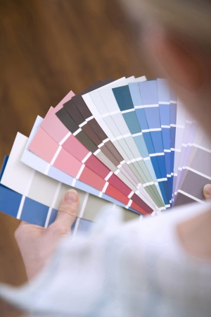Selecting paint colour for new home photo