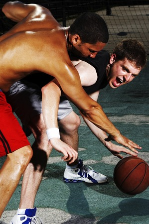 the opponent: A player trying to snatch the ball from his opponent