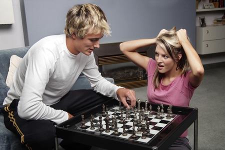 highlighted hair: Un gioco di scacchi paio di gioco