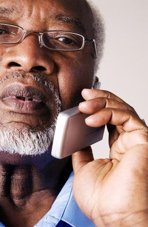 Senior businessman talking on the hand phone
