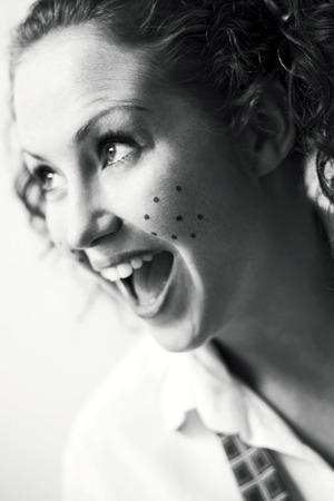 Woman with freckles Stock Photo - 26451975