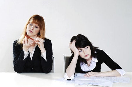Businesswomen feeling lazy photo