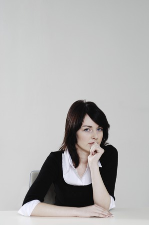 Woman with curious look photo
