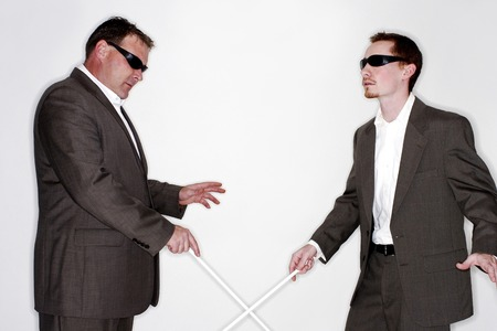 Two blind men photo
