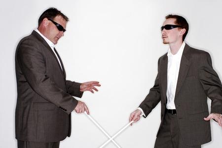groping: Two blind men