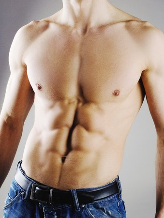 sixpack: Man showing off his six-pack