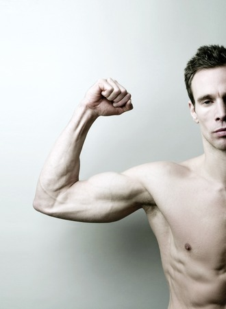 Man showing off his muscle