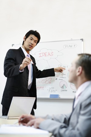 desirous: Brainstorming session Stock Photo