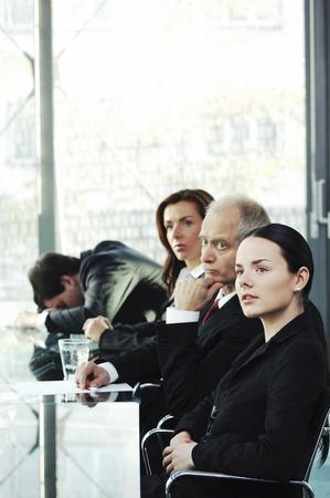 Man sleeping in the meeting room photo