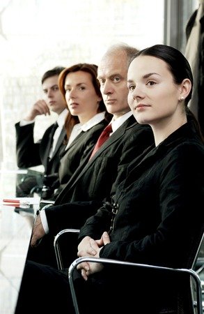 paying attention: Business people paying attention in the conference room Stock Photo