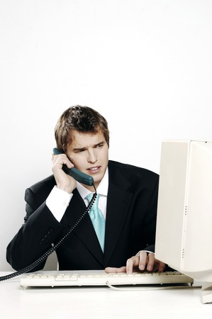 desirous: Businessman talking on the phone