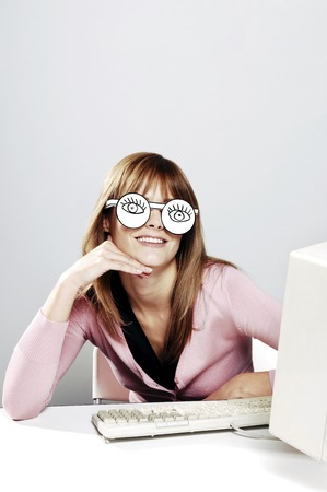 desirous: Businesswoman wearing spectacles