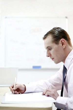 desirous: Businessman concentrating on his work