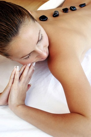 spoiling: Woman doing spa treatment