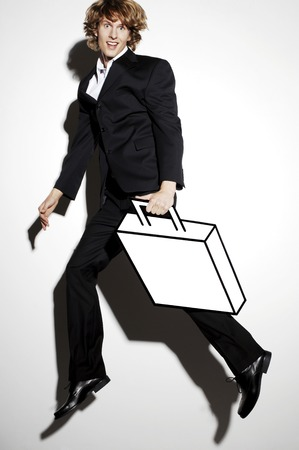 Businessman carrying a briefcase photo