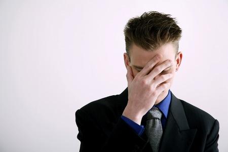 Disappointed businessman Reklamní fotografie