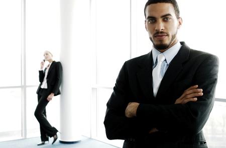 Businessman looking at the camera photo