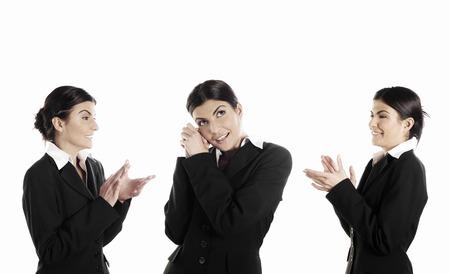 Businesswoman celebrating her achievement Reklamní fotografie