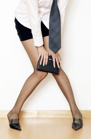 Sexy businesswoman with an organizer Stock Photo