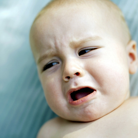 Baby crying photo