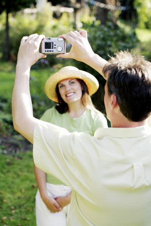 Man taking picture for his wife photo