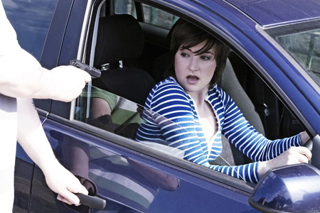 door opening: Car jacking Stock Photo