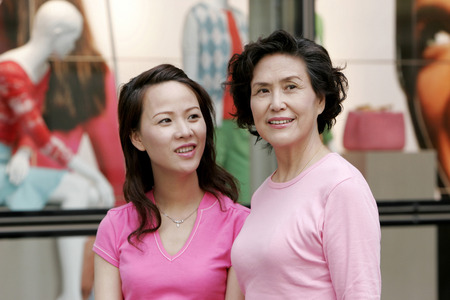 Mother and daughter shopping together photo