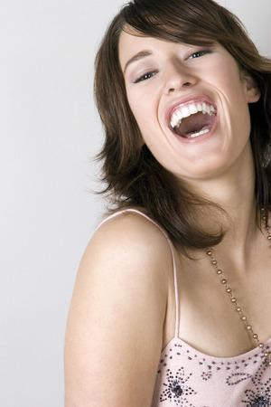 웃고있는 여자 스톡 콘텐츠