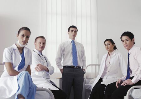 medical personnel: Doctors and medical personnel posing for the camera