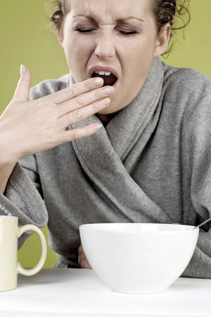 Woman yawning photo