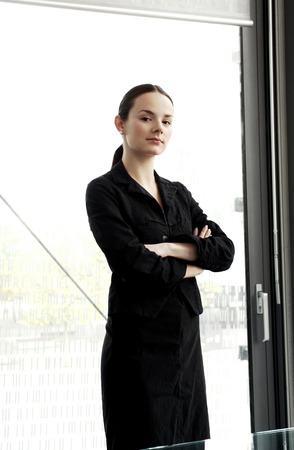 folding arms: Businesswoman folding her arms
