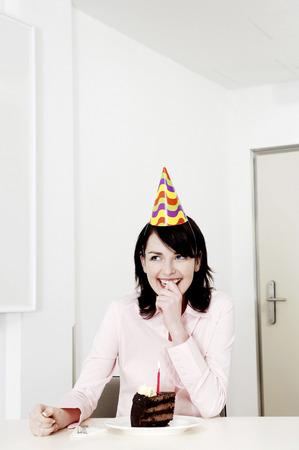 Businesswoman celebrating her birthday