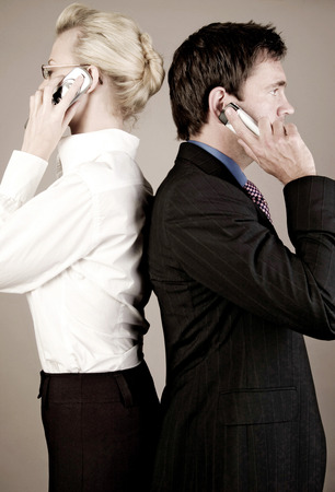 Business people talking on the phone photo