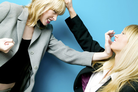 Businesswomen fighting photo