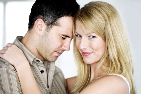 Couple embracing each other photo