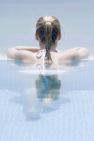 Woman in the pool photo