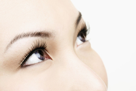 Close-up of woman's eyes looking away photo