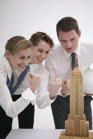 jubilate: Business people celebrating their success