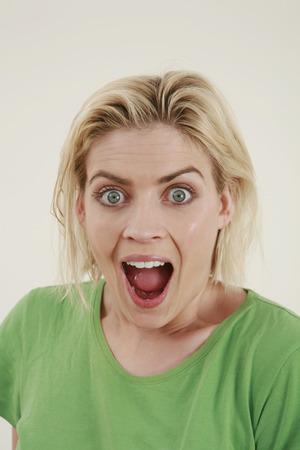 widening: Woman looking surprised