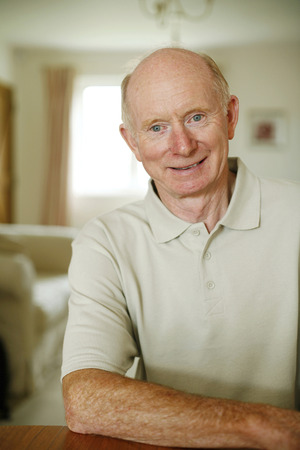 Senior man smiling Stock Photo