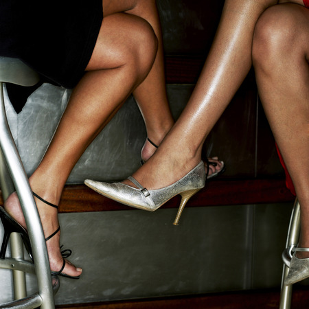 housemate: Close-up of womens legs