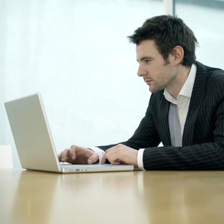 Executive using laptop
