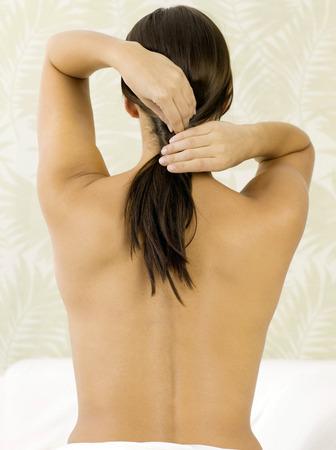 Womans back photo