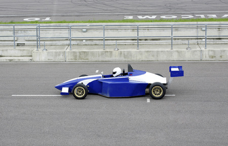 Side profile of a racing car photo