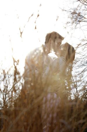 Couple kissing Banque d'images