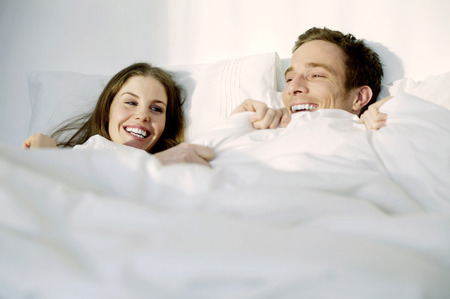 Couple in bed photo