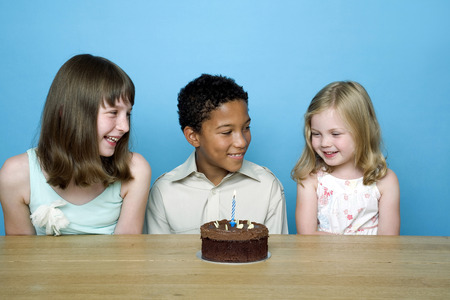 Kids celebrating birthday photo