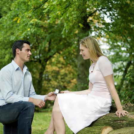 Man proposing to his girlfriend photo