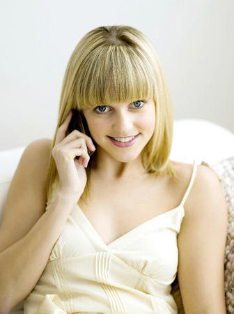 nonverbal communication: A woman on the mobile